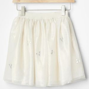 Gap girls white bejeweled tulle skirt.